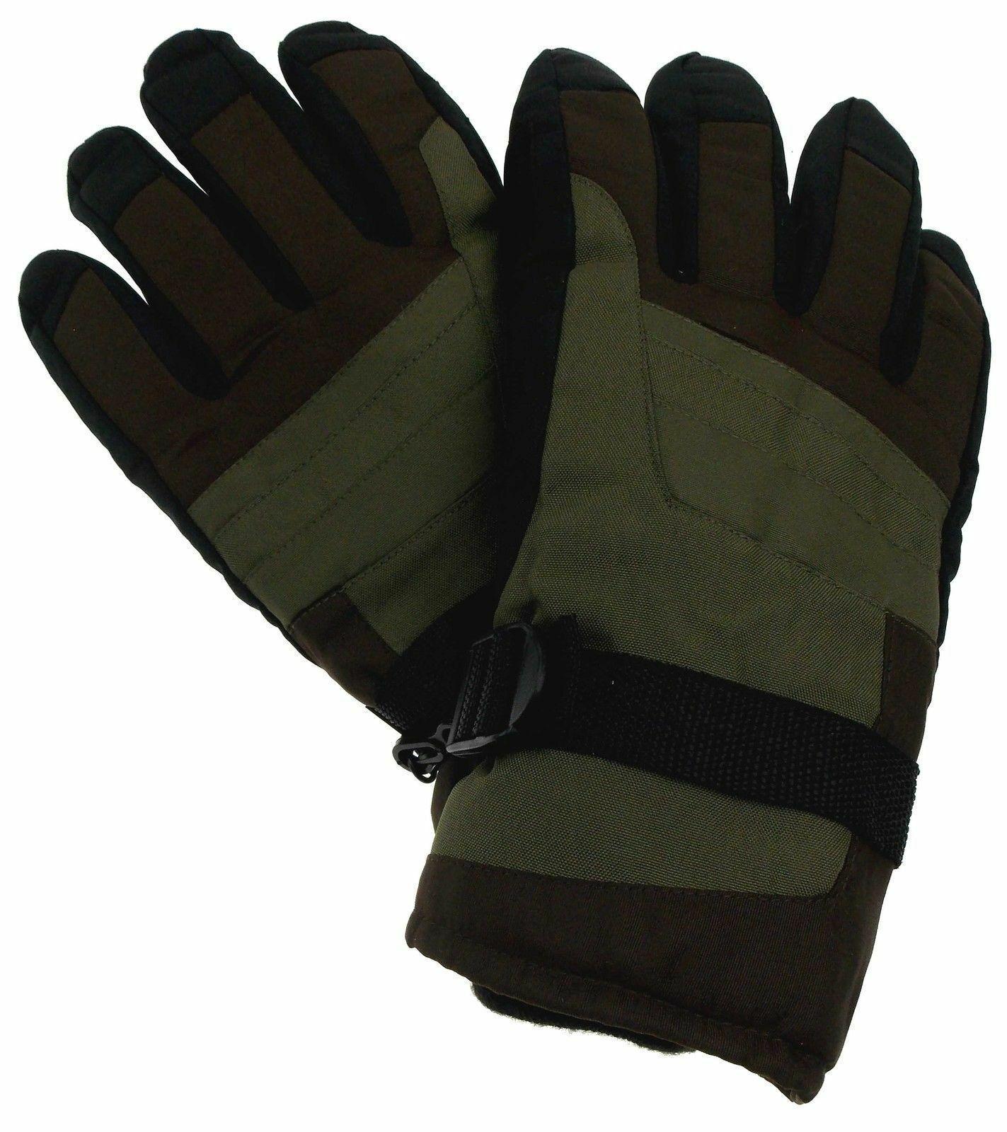 Athletech Mens Ski Gloves 3M Thinsulate Insulation Waterproof Warm Winter Snow