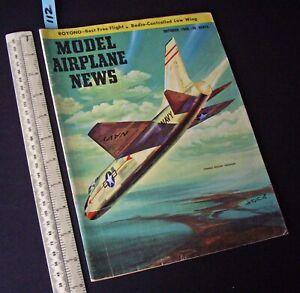 1956 Oct Vintage Model Airplane News USA Aeromodelling Hobby Magazine  (112)