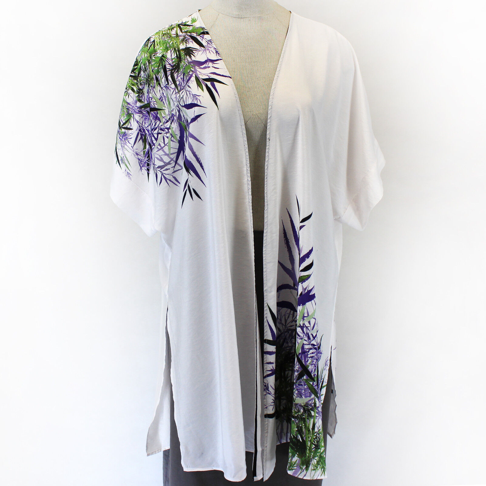 Citron Clothing Japanese Art Lavender Bamboo Blouse Tops Kimono Plus 1X