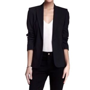 2800cc7282a Hugo Boss Womens Blazer Size 12 Black Virgin Wool Juicy 6 Stretch ...
