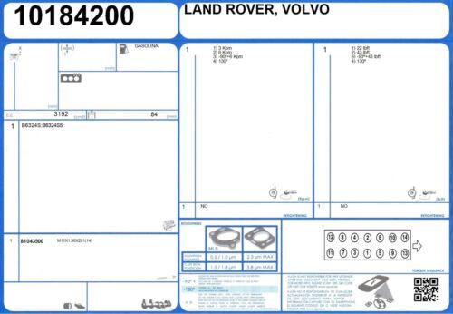 2012-2013 GUARNIZIONE Testa Cilindro Set VOLVO XC90 R-design 24V 3.2 240 B6324S5