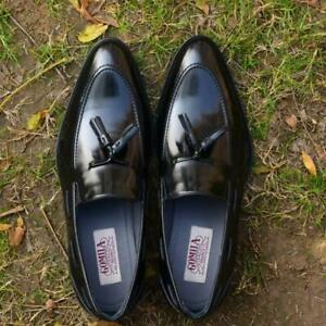 Men-Slip-Ons-Formal-Party-Loafers-Handmade-Italian-Calf-Leather-Black-Shoes