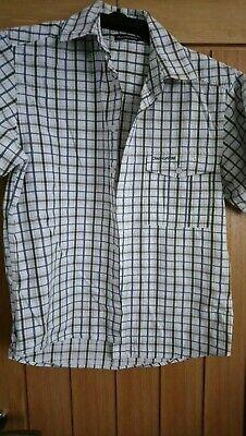 """""""craghoppers"""" Uomo A Maniche Corte Camicia Motivo Check In Taglia Small-mostra Il Titolo Originale Dolcezza Gradevole"""
