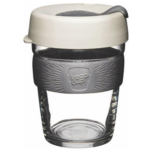 LAIT 340 ml 12 oz environ 340.19 g Keepcup Brew reusuable Verre Tasse à Café Tasse avec Silicone Band