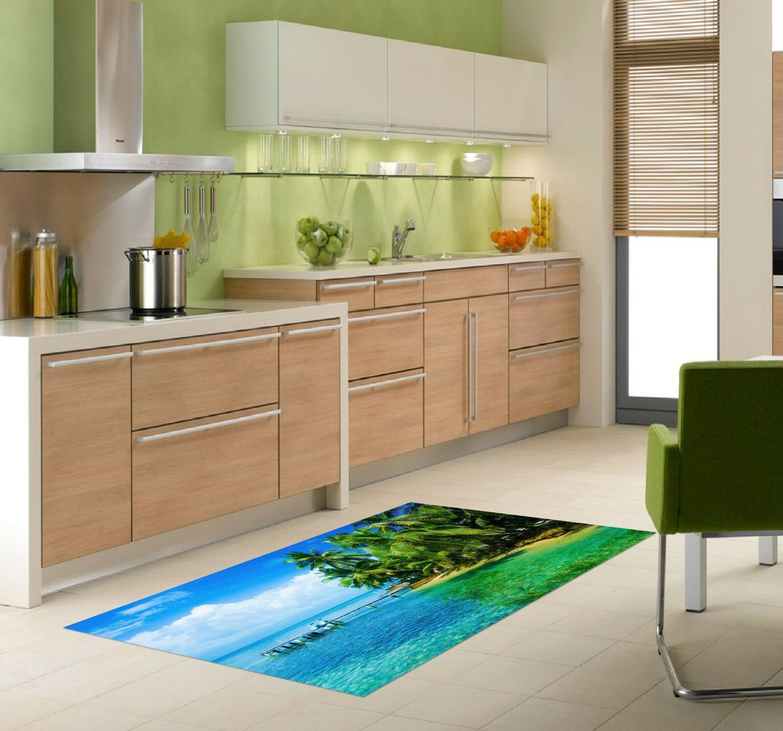 3D Coconut Island 70 Kitchen Mat Floor Murals Wall Print Wall Deco UK Carly