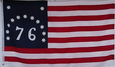 BENNINGTON 76 PATRIOTIC USA HISTORICAL FLAG - 1776 - AMERICAN REVOLUTION