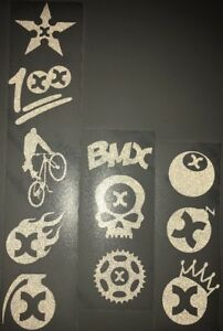 1x Green Harvey Hobbies Emoji Reflx Sticker Reflective Sticker Bikelife Bike Bmx