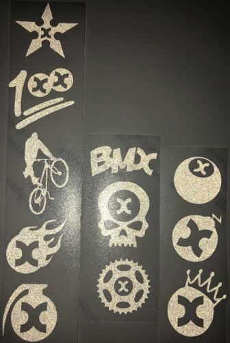 Reflective Sticker Bikelife BMX 11 Stickers White Reflx Emoji Sticker Pack
