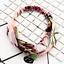 Frauen Schöne Yoga Elastic Floral Haarband Stirnband Turban Twisted Verknotet
