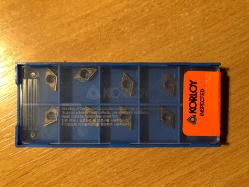 DCMT 070204-MP PC8110 Carbide inserts KORLOY 10 Pcs//Pack 21.51 heat resistant