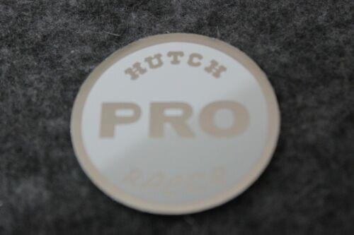 WHITE NOS OLD SCHOOL BMX HUTCH PRO RACER COIN STICKER DECAL