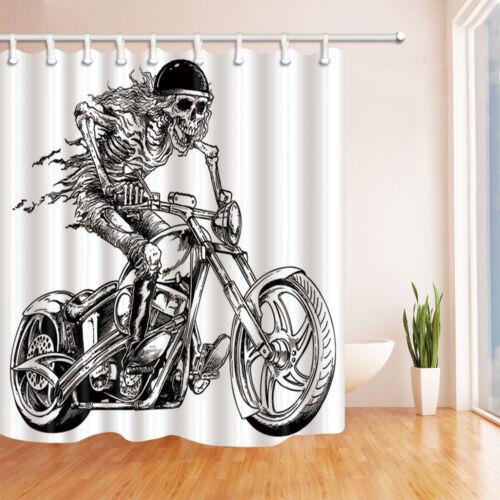 """Squelette moto tissu imperméable rideau de douche Liner salle de bains 71/"""""""