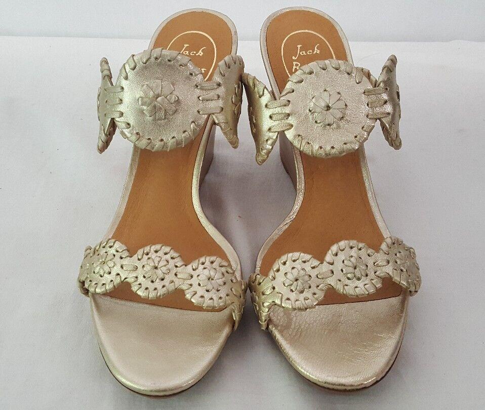 JACK ROGERS LUCCIA CORK WEDGE THONG THONG THONG SANDALS scarpe PLATINUM Dimensione 9.5 NEW   180 ed64f2
