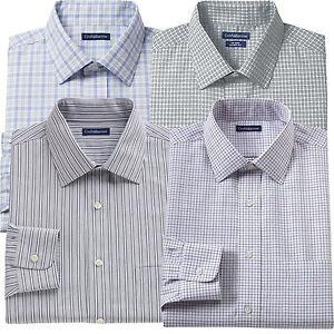 New-Croft-amp-Barrow-Men-Classic-Fit-100-Cotton-Performance-Dress-Shirt-MSRP-65