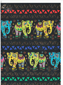 Details Zu Klappkarte Greeting Card Hübsche Elefanten Im Indien Stil Gemalt