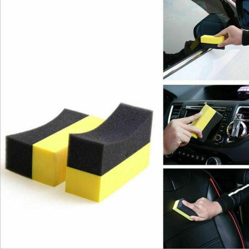 U-Shape Car Tire Waxing Polishing Compound Sponge Pad Tyre Polish Clean Brush