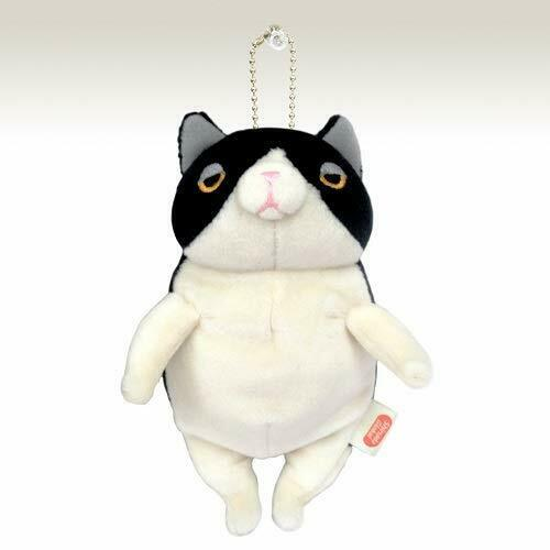 Mochineko plush toy Hachiware mini with ball chain MONE-0088H From Japan
