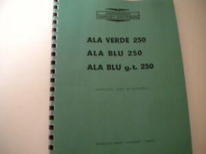 Details about 1960's Harley-Davidson Aermacchi Ala Verde & Ala Blu 250  Motorcycle Parts Manual
