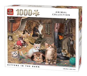 1000 Piece Animal Collection Jigsaw Puzzle Cats Kittens In The Barn 05700