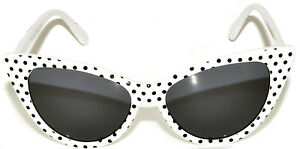 46ceb106045 CAT EYE OWL SUNGLASSES DARK LENS POLKA DOTS GLASSES SHADES UV400 ...