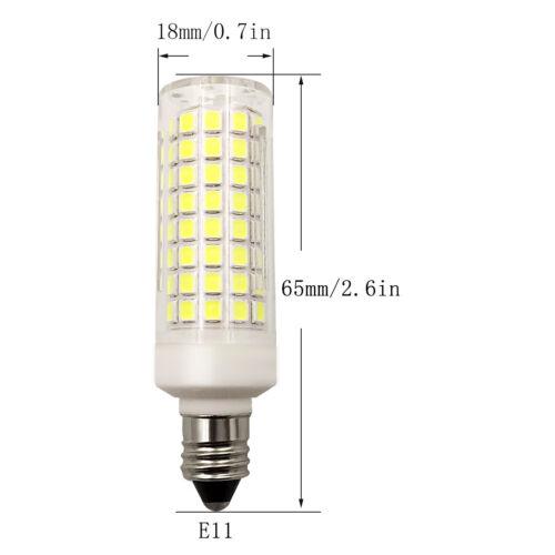 6pcs E11 LED Light Bulb 102-2835 Ceramics Ceiling Fans Lights Lamp 7W 110V