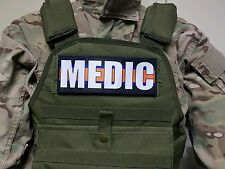 "3x8"" MEDIC Blue Line EMT EMS  Hook Back Morale PARAMEDIC Patch Badge"