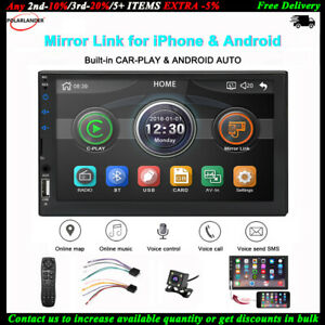 7-039-039-2-Din-Autoradio-Carplay-Siri-Android-Fotocamera-BT-iOS-Mirror-Link-FM-TF-MP5