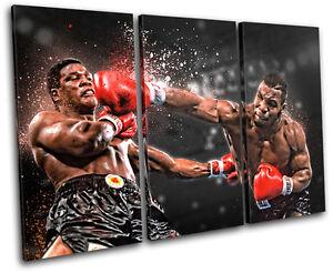 Mike Tyson Boxer SPORT   Sports SINGLE CANVAS WALL ART Picture Print VA