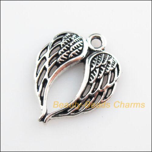 15 New Pendants Animal Birds Wings Tibetan Silver Tone Charms 17x21.5mm
