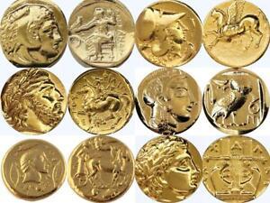 Alexander-Athena-Zeus-and-Apollo-6-Greek-Coins-Percy-Jackson-Gift-6SET-G