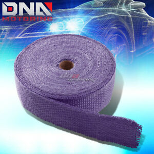 15M//49 FEET HEADER//MANIFOLD DOWNPIPE PIPING EXHAUST INSULATING PURPLE HEAT WRAP