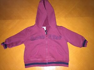 64473cab2 Baby Boys Toddlers Gymboree Maroon Hooded Sweater Hoodie Size 6-12 ...