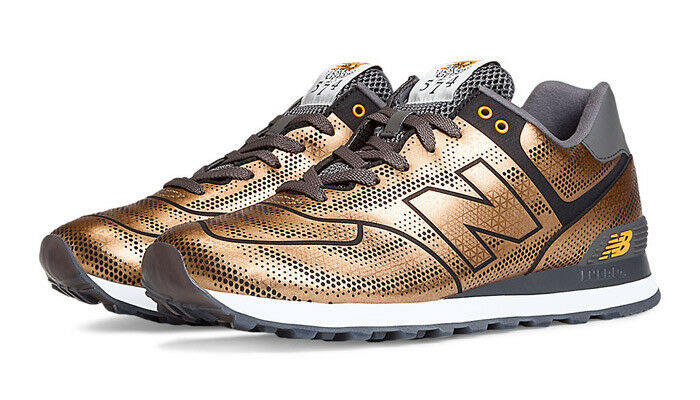 New Balance 574 Tropical Fish Pack Dragon skin mens size 9.5  bronze/gold