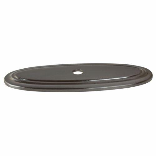 "1034-SN-1 GlideRite 3/"" Thin Oblong Ring Cabinet Knob Backplate Satin Nickel"