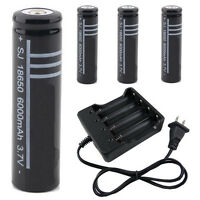 3.7v 18650 Li-ion Rechargeable Battery For Flashlight Ultrafire I5 Or Us Charger