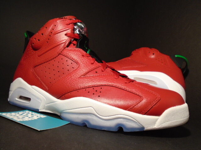 e95b89c4b3a462 Nike Mens Air Jordan 6 Retro Size 11 Spizike Varsity Red Green VI 694091  625 for sale online