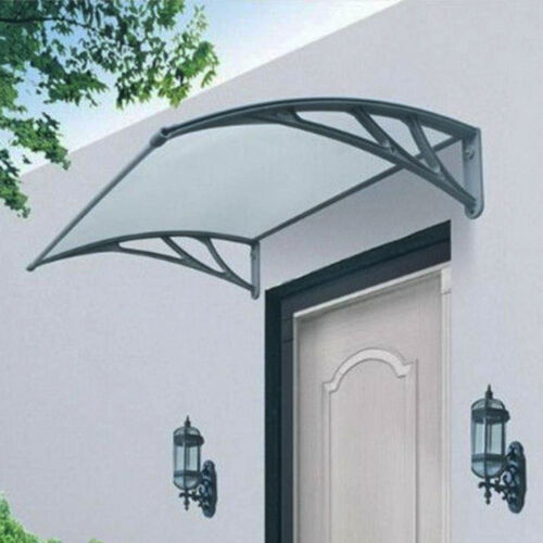 Outdoor Door Canopy Awning Rain Cover Shelter Shade Sun Protector Patio Roof Black 240cm X 80cm (2 Canopies) | eBay & Outdoor Door Canopy Awning Rain Cover Shelter Shade Sun Protector ...
