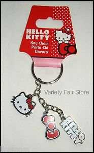 Hello-Kitty-Metal-Keychain-with-Red-Bow-Hello-Kitty-Script-and-Cute-Kitty-Face