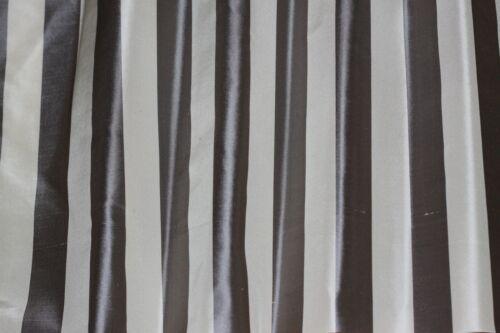 """SD-717A 54/"""" Wide Cream//Grey Vertical Stripes on 100/% Silk Taffeta By Yard"""