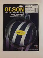 Olson Hard Back Metal Cutting Band Saw Blade 64-1/2 X 1/2, 14tpi, Made In Usa