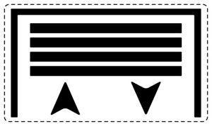 Details Zu 5x Garagentor Aufkleber Symbol 4x25 Cm Sticker Für Schalter Taster Transparent