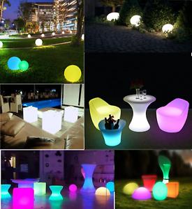 Pouf luminoso luce led lampada arredo giardino sedia for Lampada arredo