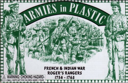 Armies in Plastic French /& Indian War 1754-1763 Roger/'s Rangers 1//32 54mm
