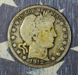 1912-D Barber Silver Half Dollar Collector Coin. FREE SHIPPING