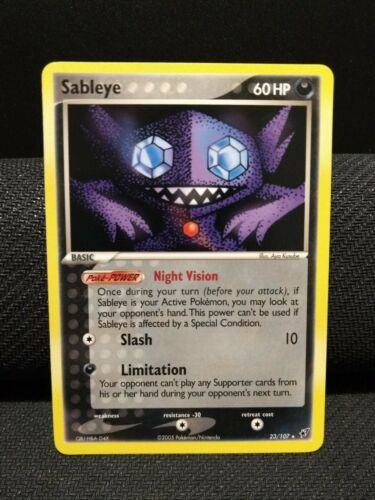 EX Deoxys Pokemon Card Sableye 23//107 EXCELLENT//NEAR MINT Non-Holo Rare TCG!!!