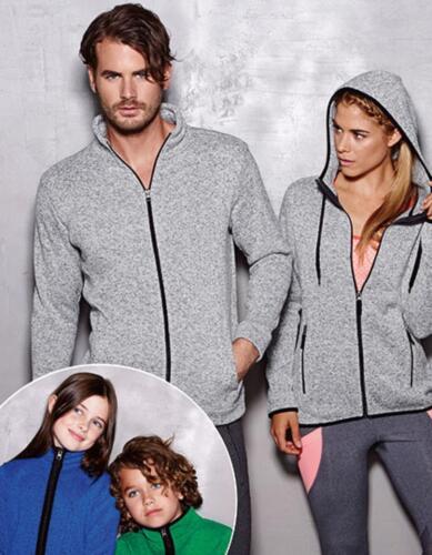 Active Knit Damen Fleece Jacke in Strick-OptikStedman