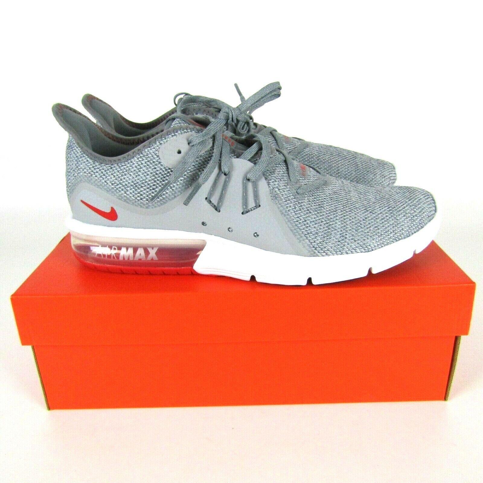Nike Air Max Aufeinanderfolgend 3 Laufschuhe Cool Grau Rot Weiß 921694-060