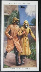 Chemical-Warfare-British-1930-039-s-Rubber-Clothing-Vintage-Card-VGC