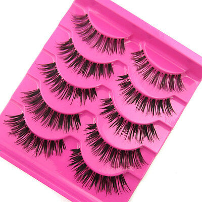 HOT Sale! EA-15 5 pairs Natural FASHION  False eyelashes EXTENSION SOFT MAKEUP