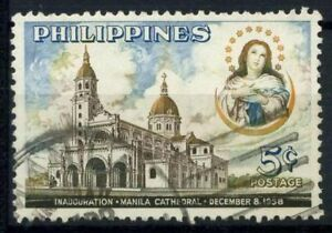 Filippine-1958-mi-622C-utilizzato-100-Manila-Cattedrale-MONUMENTI